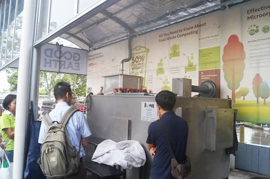 Crusher and composting system is set nearby Sutera Mall