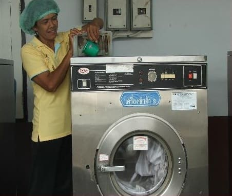 AEM is also used for laundry