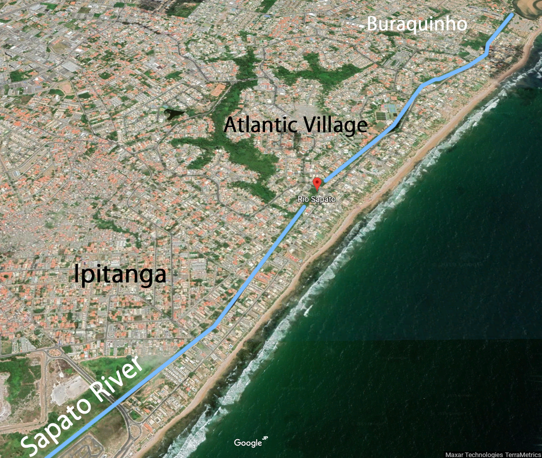 Sapato River location (Brazil)